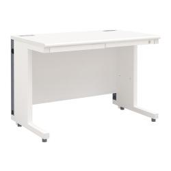 平机 オフィスデスク 多機能 整理収納(幅1000×奥行600・ホワイト)