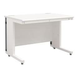 平机 オフィスデスク 多機能 整理収納(幅1000×奥行700・ホワイト)